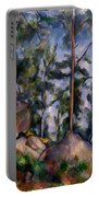 Pines And Rocks Portable Battery Charger