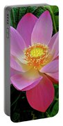 Pink Blooming Lotus Portable Battery Charger