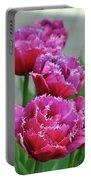 Pink Parrot Tulips Portable Battery Charger
