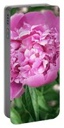 Pink Peony Print Portable Battery Charger