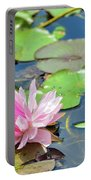Pink Water Lily Series Portable Battery Charger
