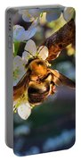 Plum Full Of Bees Portable Battery Charger