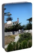 Point Pinos Lighthouse In Pacific Grove, California Portable Battery Charger