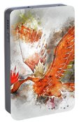 Pokemon Fearow Abstract Portrait - By Diana Van   Portable Battery Charger