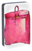 b3e5d0cfca9a Pop Of Pink Pop Art Couture Purse Birkin Style Bag By Megan Duncanson  Portable Battery Charger