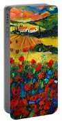 Poppies In Tuscany Portable Battery Charger