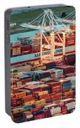 Port Of Oakland Aerial Photo Portable Battery Charger