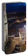 Porto By Night In Portugal Portable Battery Charger