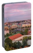 Prague Skyline At Sunset Portable Battery Charger