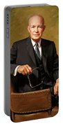 President Dwight Eisenhower Painting Portable Battery Charger