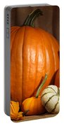 Pumpkins And Gourds Still Life Portable Battery Charger