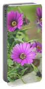 Purple Aster Flowers Portable Battery Charger