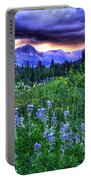 Purple Skies And Wildflowers Portable Battery Charger