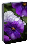 Rain Drops In The Morning Portable Battery Charger