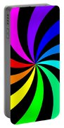 Rainbow Spectral Swirl Portable Battery Charger