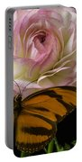 Ranunculus And Butterfly Portable Battery Charger