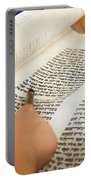 Reading The Torah Scrolls Portable Battery Charger