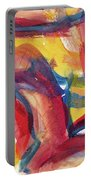 Red Abstract Painting Portable Battery Charger