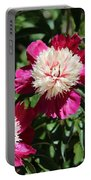 Red And Pink Peony Portable Battery Charger