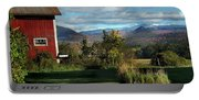 Red Barn In Newbury Vermont Portable Battery Charger