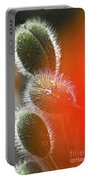 Red Corn Poppy Bud And Red Dots Portable Battery Charger