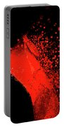 Red Flag On Black Background Portable Battery Charger