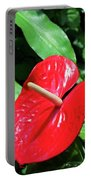 Red Flamingo Flower II Portable Battery Charger