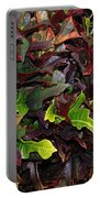 Red Green  Leaves Portable Battery Charger