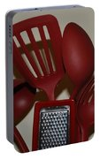 Red Kitchen Utencils Portable Battery Charger