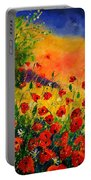 Red Poppies 451 Portable Battery Charger