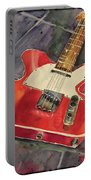 Red Telecaster Portable Battery Charger
