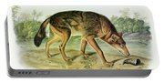 Red Texan Wolf Portable Battery Charger