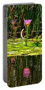 Reflective Wild Water Lilies Portable Battery Charger