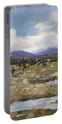 Reindeer On The Mountain Portable Battery Charger
