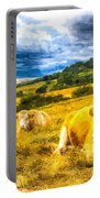 Resting Cows Art Portable Battery Charger