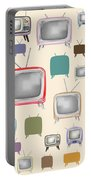 retro TV pattern  Portable Battery Charger