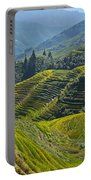 Rice Terraces In Guilin, China  Portable Battery Charger