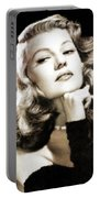 Rita Hayworth By Mary Bassett Portable Battery Charger