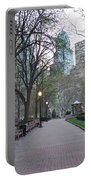 Rittenhouse Square In The Morning Portable Battery Charger