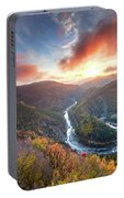 River Meander At Sunrise Portable Battery Charger