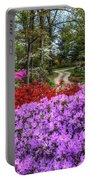 Road With Flowers Portable Battery Charger