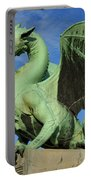 Roaring Winged Dragon Sculpture Of Green Sheet Copper Symbol Of  Portable Battery Charger