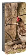 Rooster In The Woods Portable Battery Charger