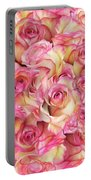 Roses Background Portable Battery Charger