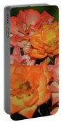 Pink And Orange Roses Portable Battery Charger