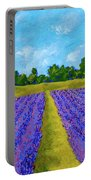 Rows Of Lavender In Provence Portable Battery Charger