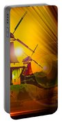 Sailing Romance Windmills Portable Battery Charger