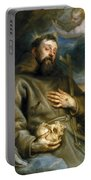 Saint Francis Of Assisi In Ecstasy Portable Battery Charger
