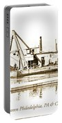 Salvage Barge, Delaware River, Philadelphia, C.1900 Portable Battery Charger
