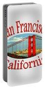 San Francisco California Design Portable Battery Charger